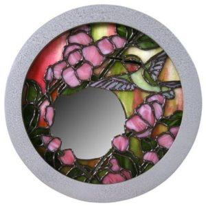 """Circle Frame with """"Hammered"""" Silver Finish"""