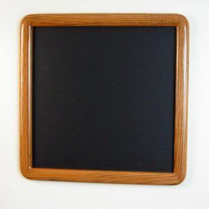 Oak Round Cornered Picture Frame with Dark Walnut Stain