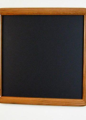 Oak Round Cornered Picture Frame with Dark Walnut Stain
