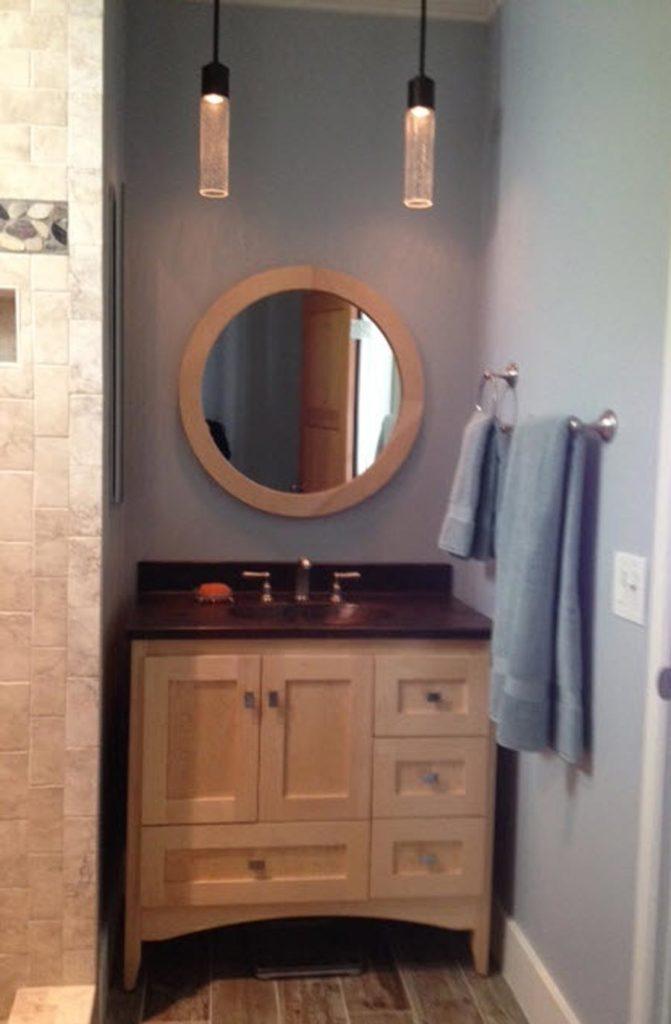Round Framed Vanity Mirror