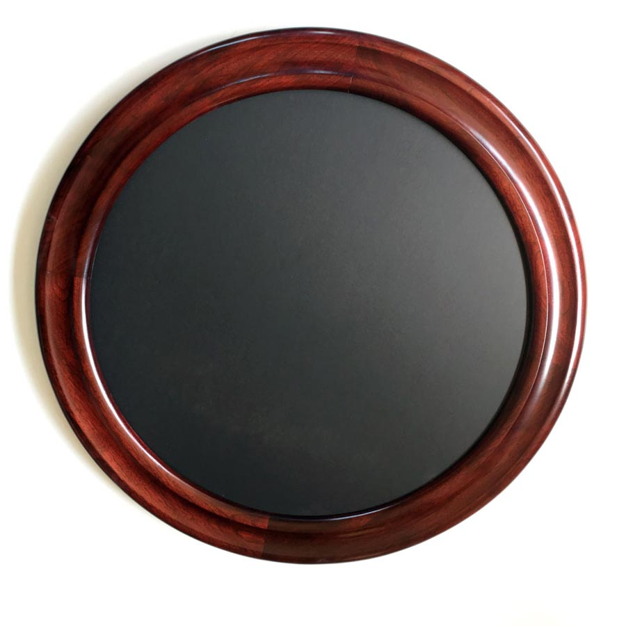Round Picture Frame Made of Walnut Stained Red
