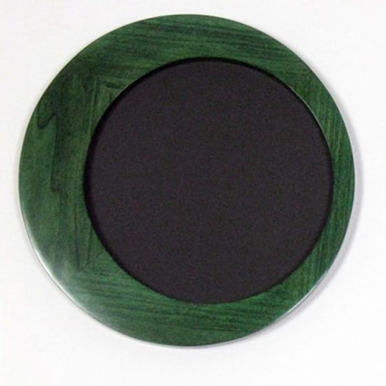 Round Picture Frames, made of Poplar and stained Green,