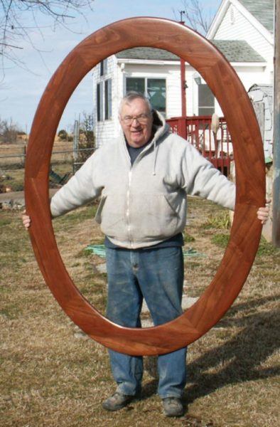 Walnut Large Oval Frame, Wide Profile