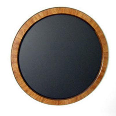 Round Frame with Bubinga Veneer Overlay