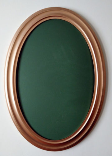 Champagne Color Oval Frame
