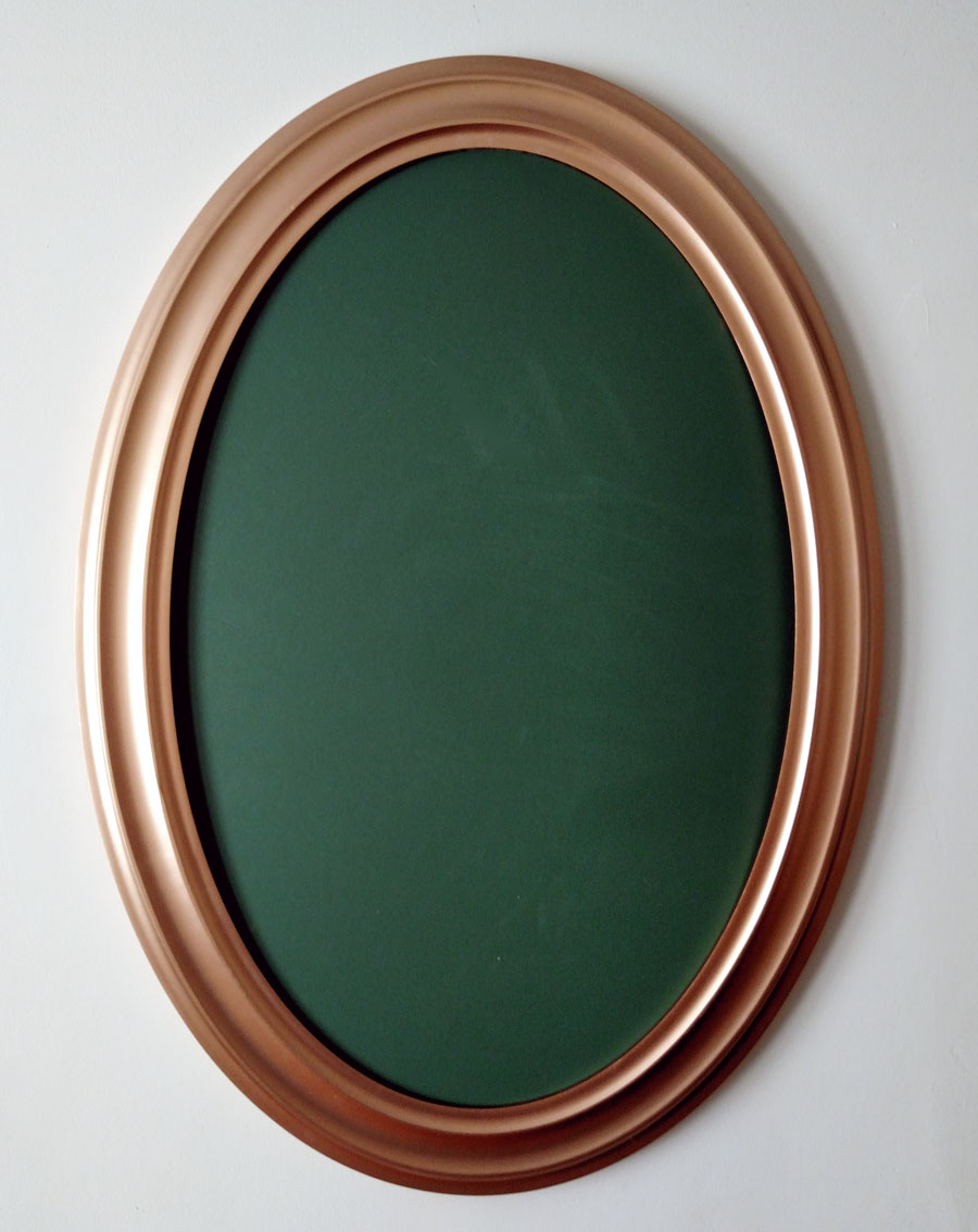 Champagne Color Oval Frame