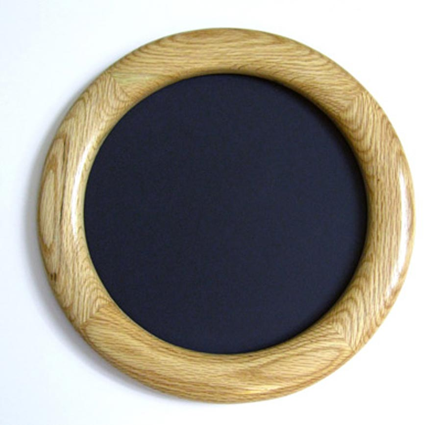 Oak Circle Frames With a Natural Finish