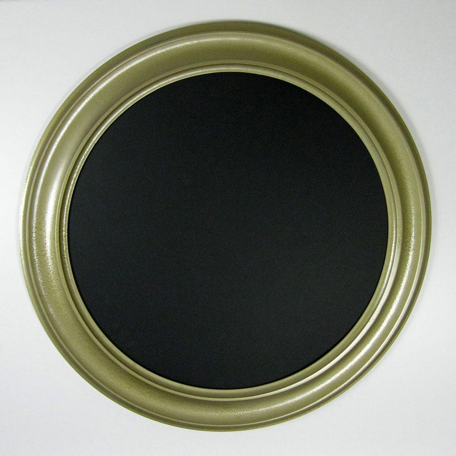 Circle Picture Frame Metallic Gold