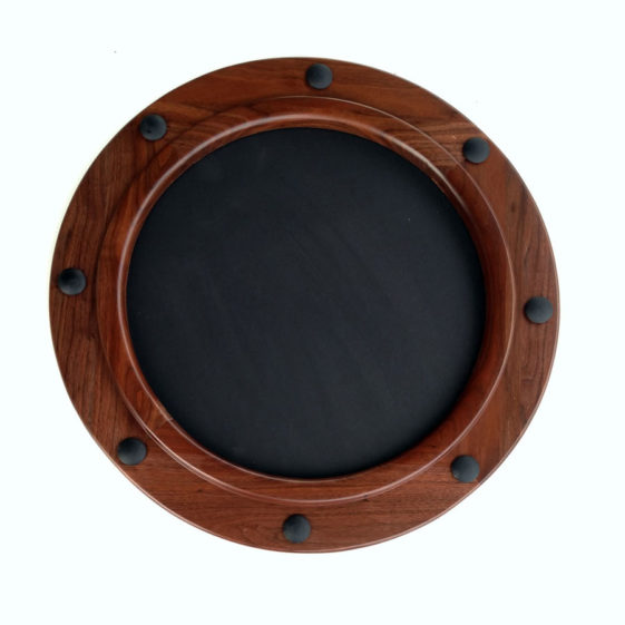 Circular Nautical Style Picture Frame Made of Walnut
