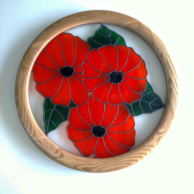 Round Picture Frames, made for Stained Glass