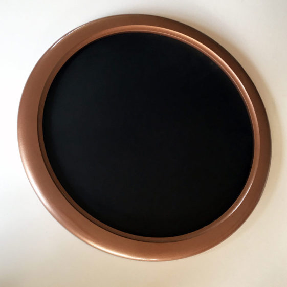 "Round Picture Frames Painted ""Hammered Copper"""
