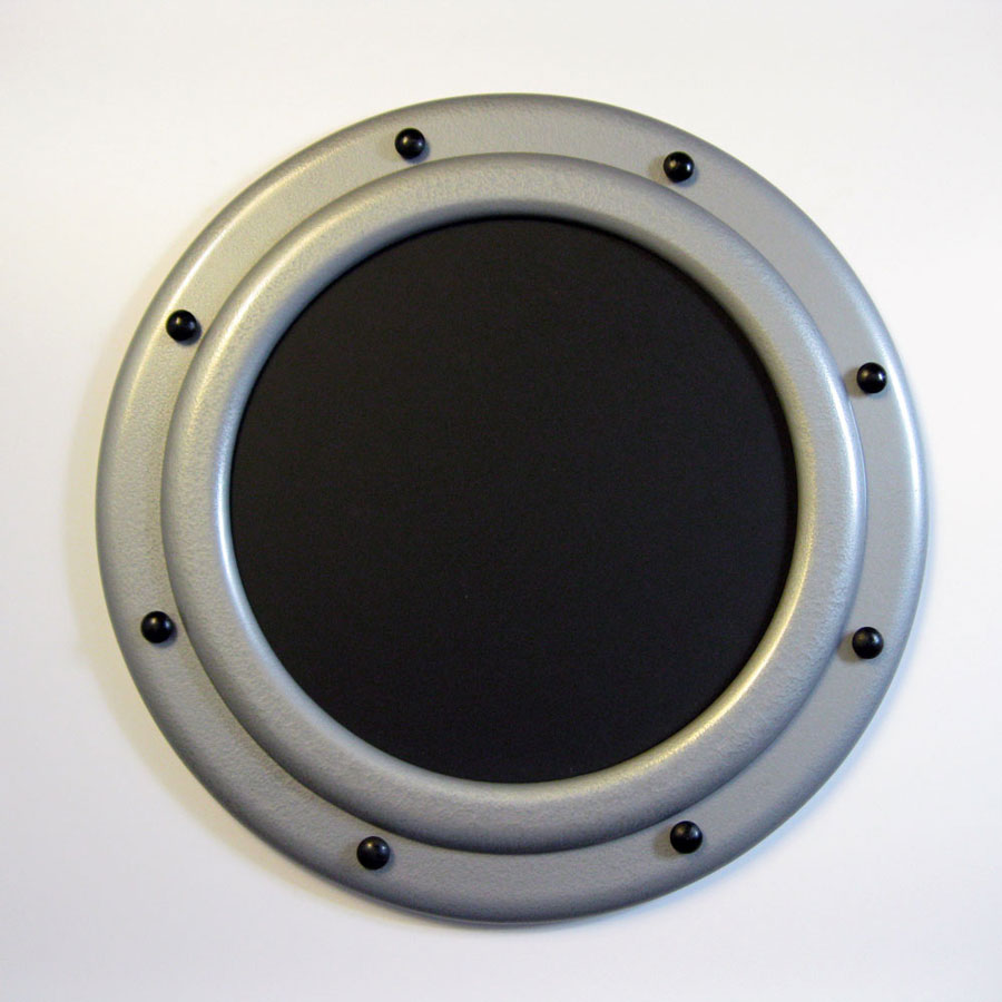 Hammered Silver Circular Porthole Style Picture Frame