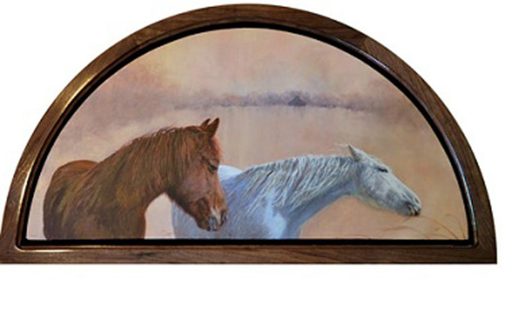 Hardwood Half Circle Frames for Pictures, Paintings, or Stained Glass