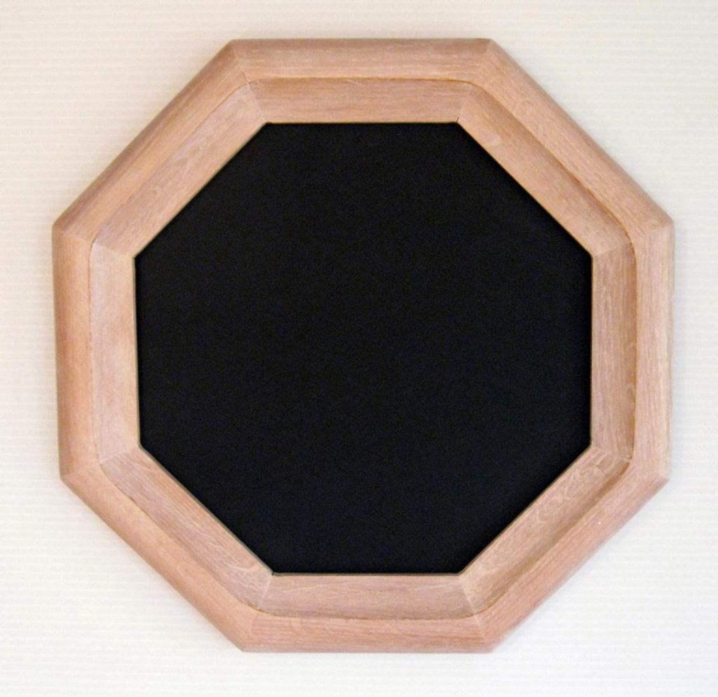 Oak Hexagon Picture Frame, Whitewash Color.