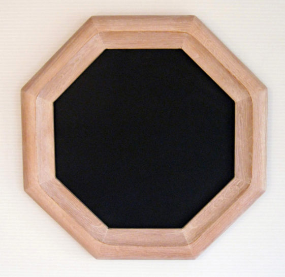 Oak Hexagon Picture Frame, Whitewash Color.