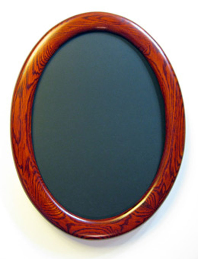 oak oval picture frames stained red crones custom woodworking