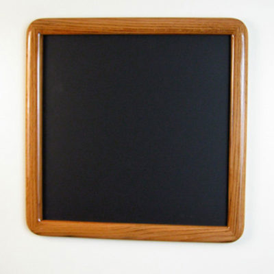 Oak Round Cornered Picture Frame with a Dark Walnut Stain