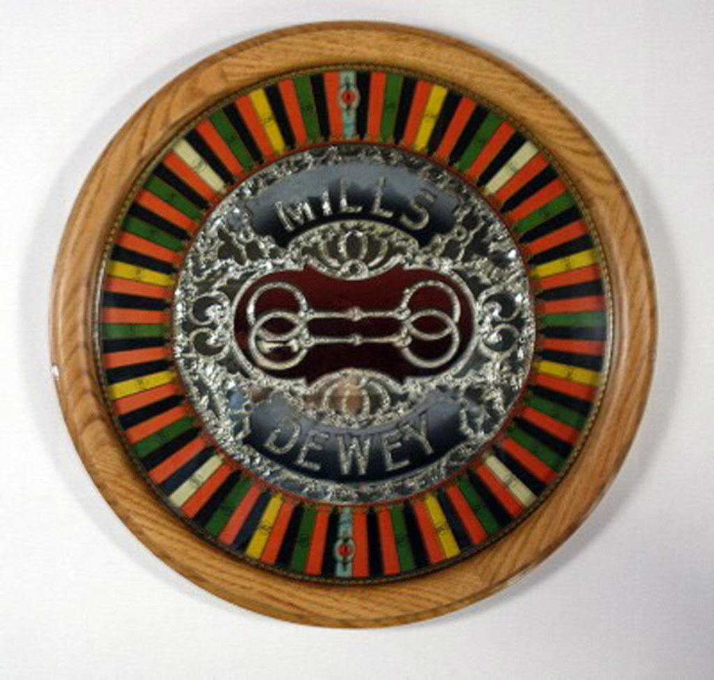 Oak Round Picture Frame – Slot Machine Wheel