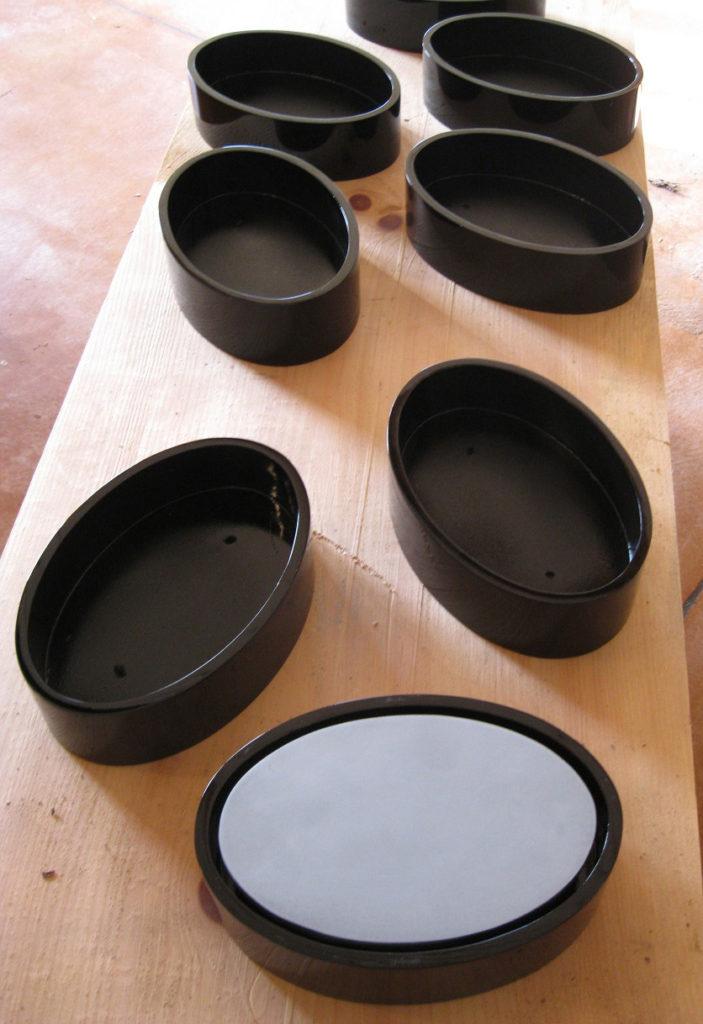 Oval Canvas Floating Frames