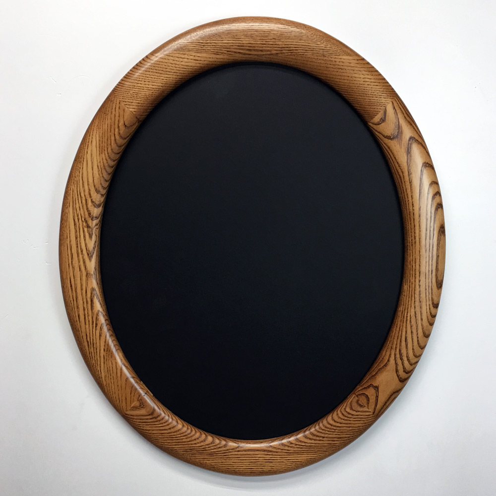 oval picture frame stained chestnut