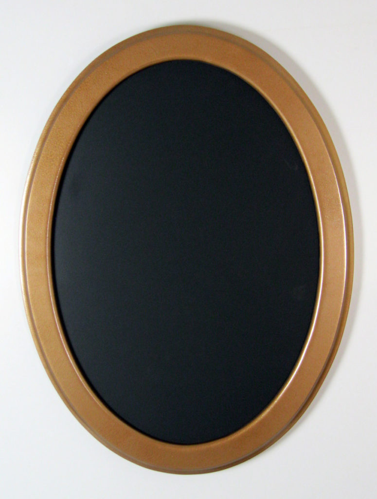 "Oval Frame With ""Hammered Copper"" Finish"