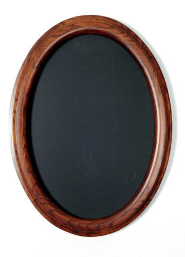 Oval Frames made of Oak Stained Walnut
