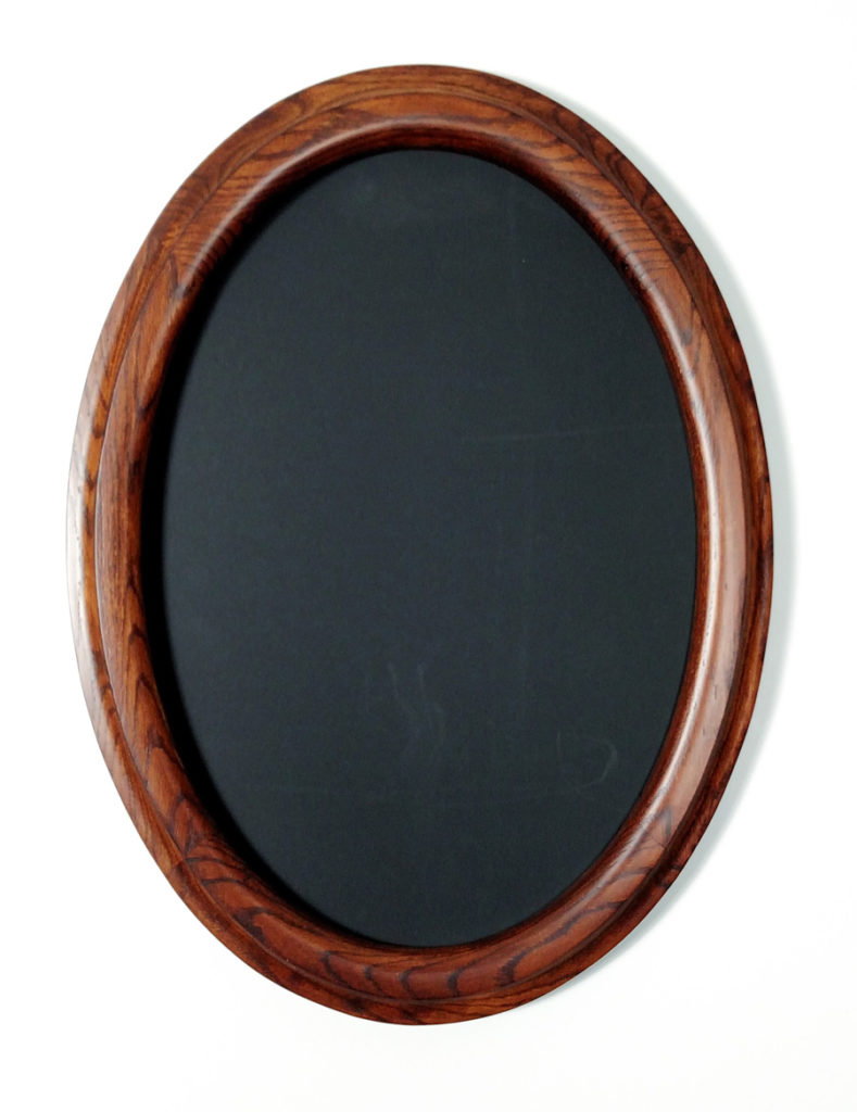 Oval Frames made of Oak Stained Walnut