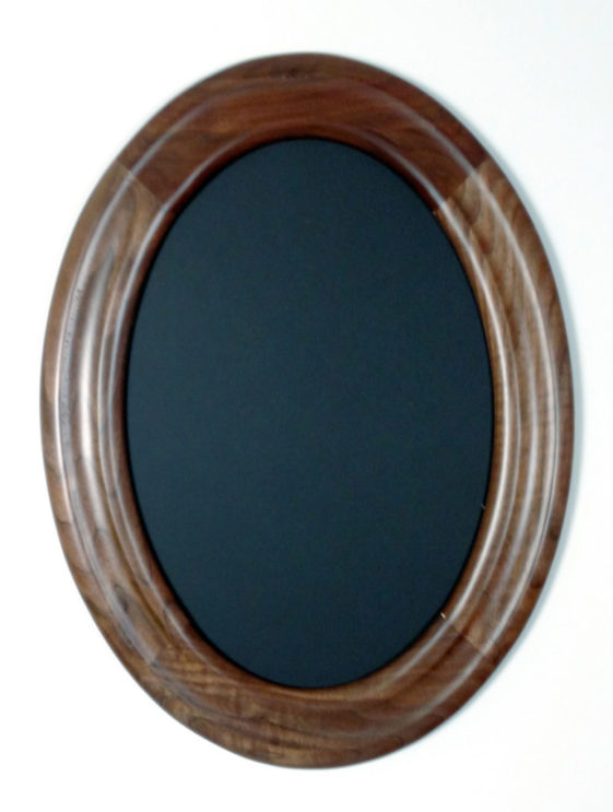 Oval Frames Made of Walnut