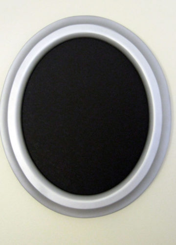 Oval Frames Painted Silver