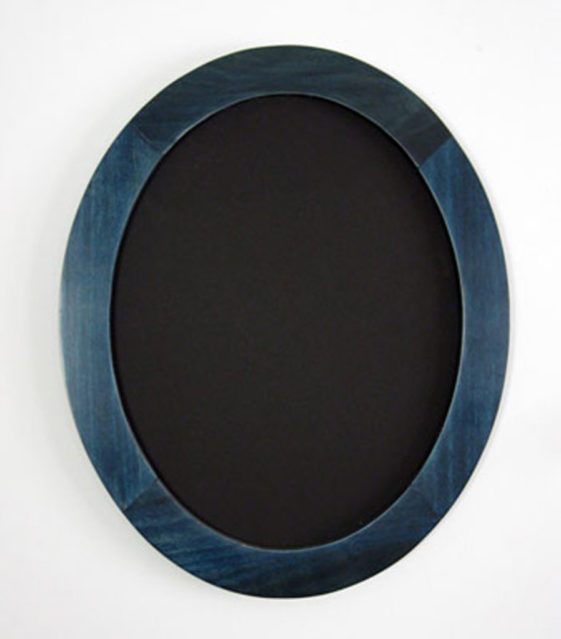 Oval Picture Frames Stained Blue