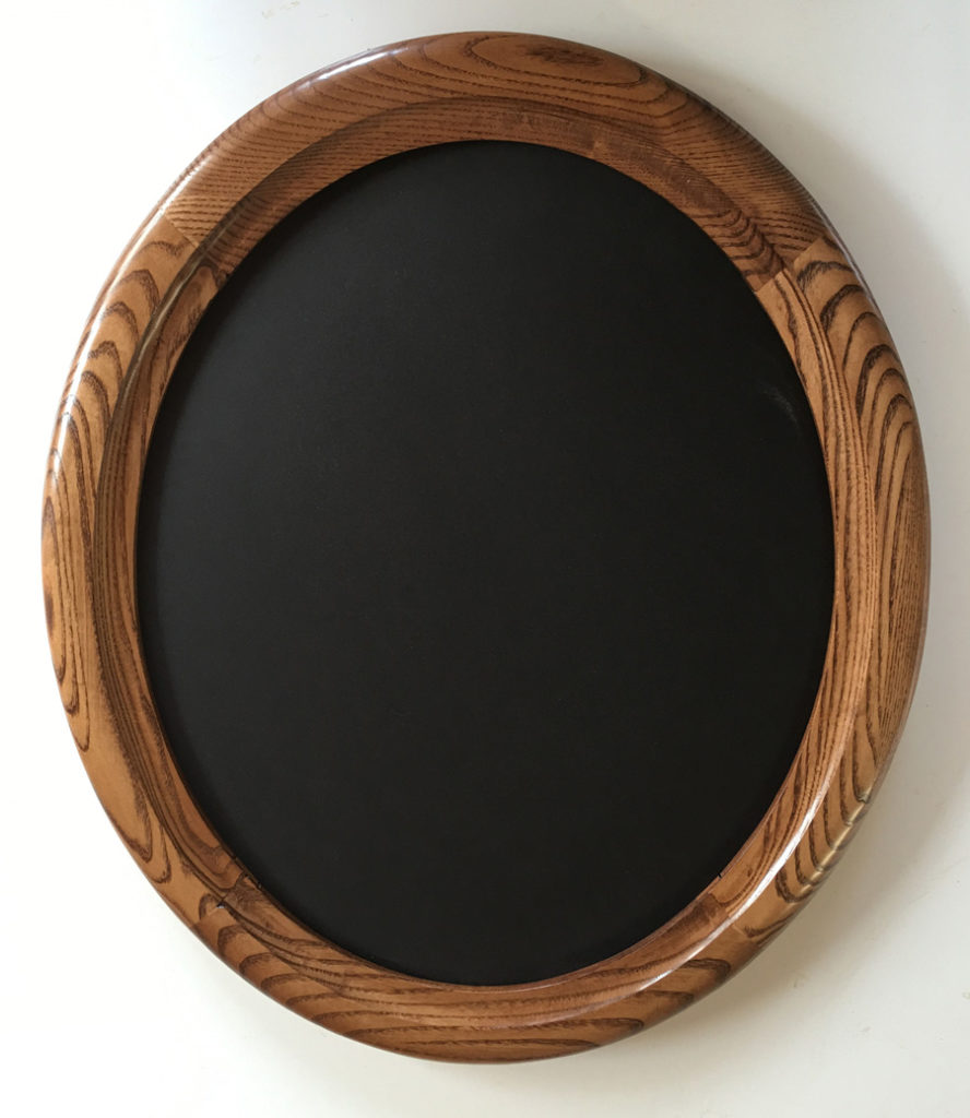 oval picture frame made of ash