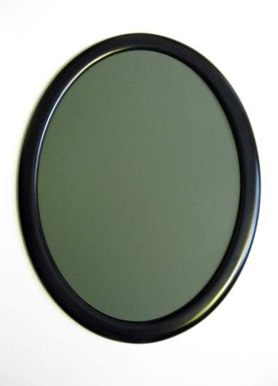 Oval Picture Frame, Painted Black