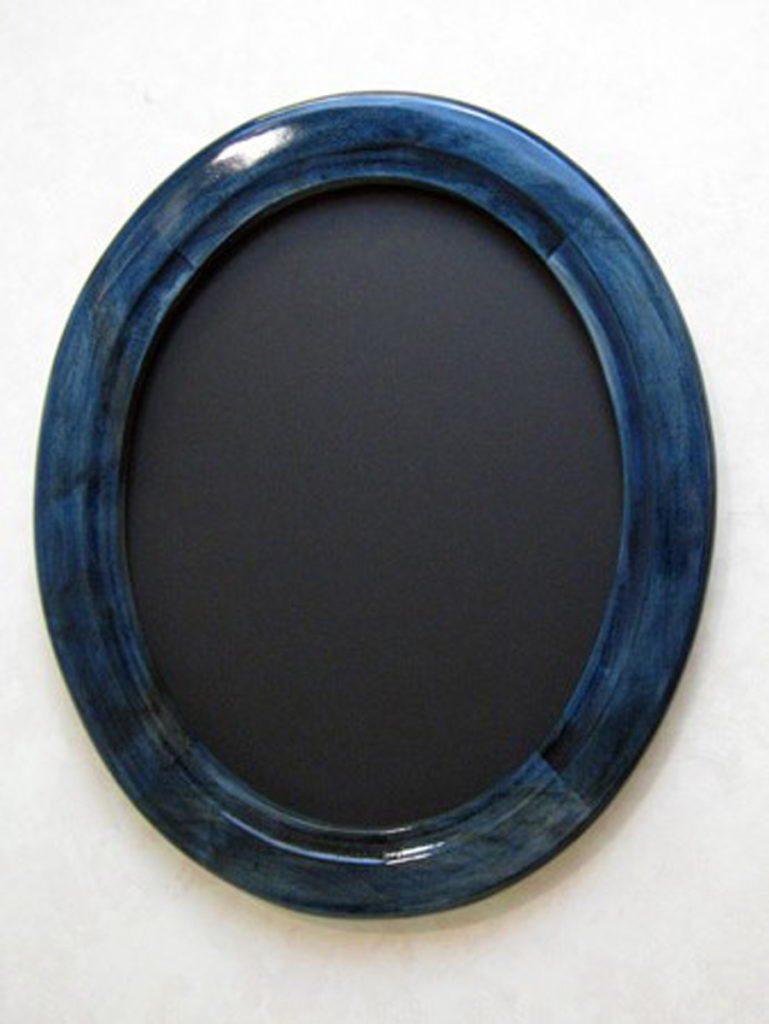 Oval Picture Frame stained Blue