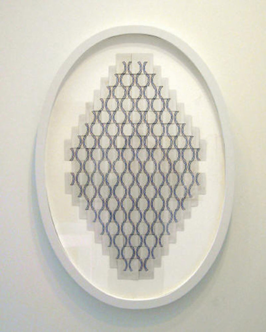 Oval Picture Frame Painted White