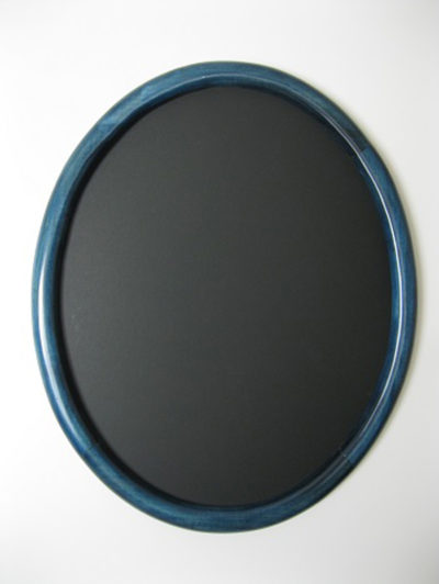Oval Hardwood Frames Stained Blue