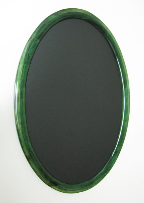 Oval Picture Frames Stained Green