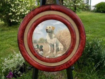 Poplar Round Frames, Stained Red