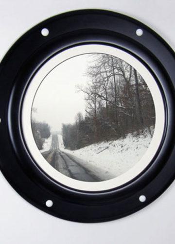 Black Porthole Frame with White Rivets