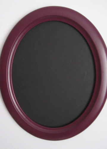 Purple Oval Picture Frames