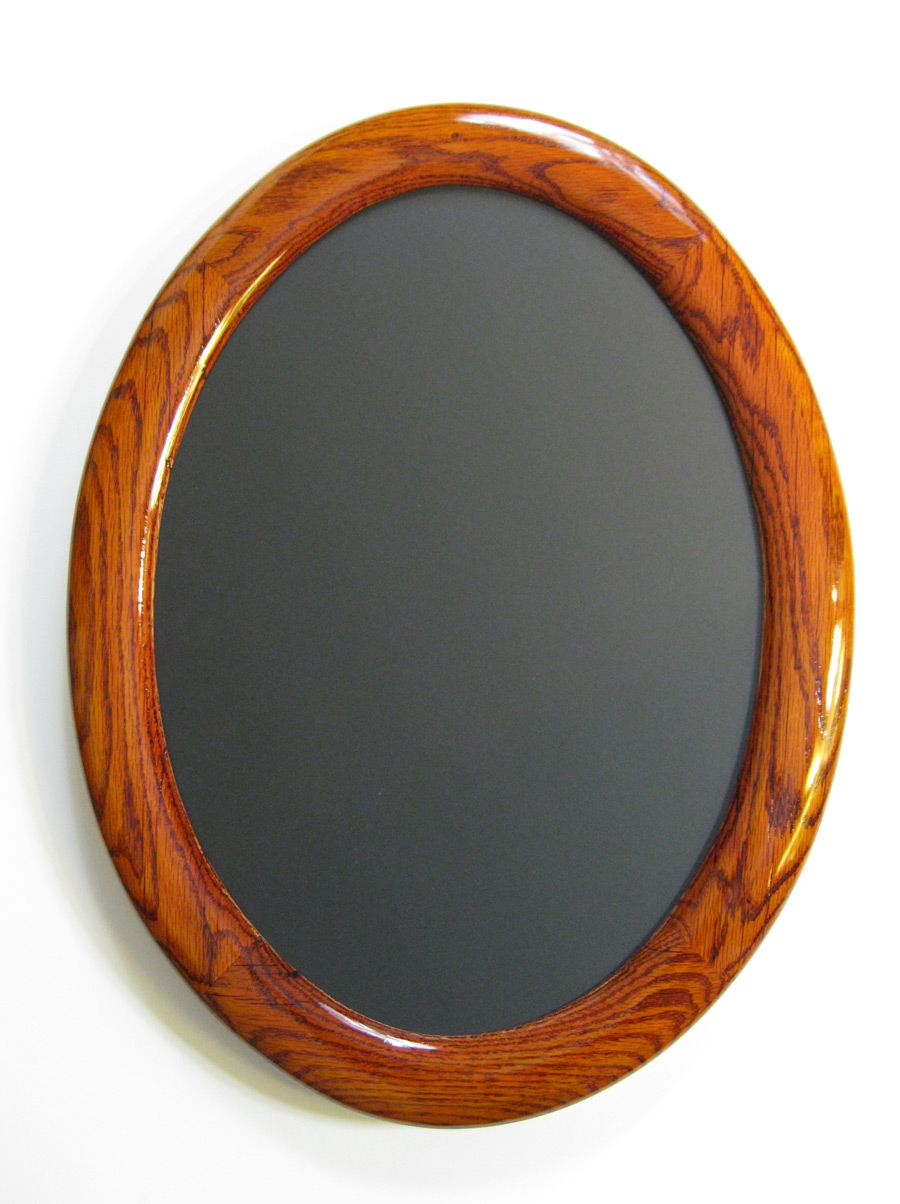 Round and Oval Frames Made of Oak