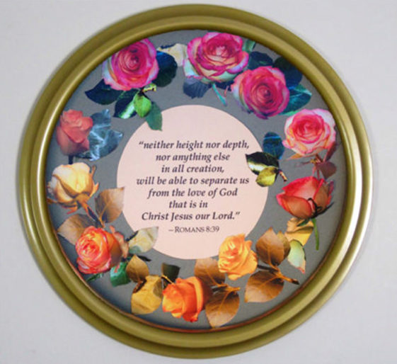 Round Canvas Frame Painted Bright Gold
