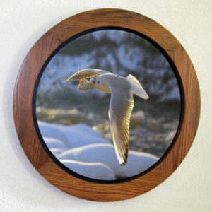 "Round Canvas Stretcher in a ""Floating"" Frame"
