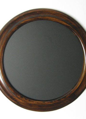 Round Photo Frame Espresso Color