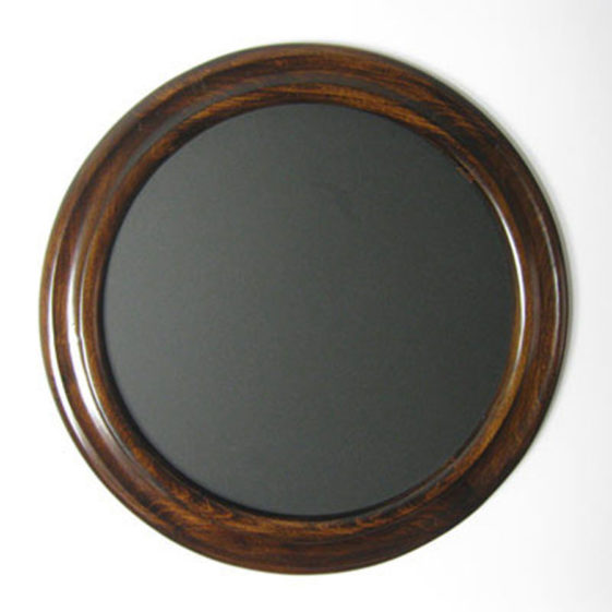 Round Photo Frame Espresso Color