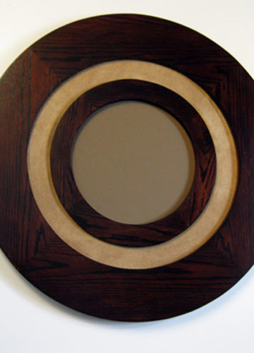 Round Frames made of Oak with Fabric Insert