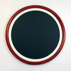 Round Frames Made of Oak and Stained Red