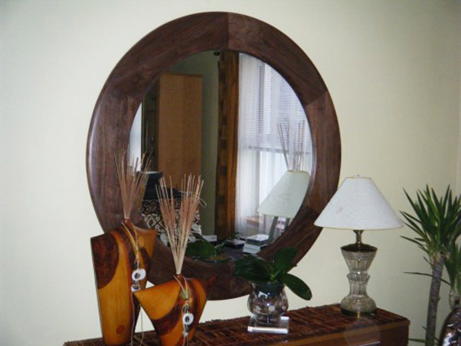 Round Mirror Frame Extra Wide Profile