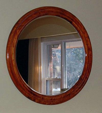 Round Mirror Frames made of Poplar Hardwood