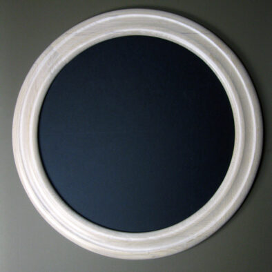 Round Oak Frame Stained White