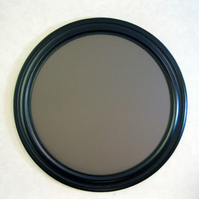 Round Picture Frames Painted Satin Black